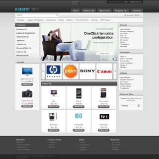 Black OpenCart Template