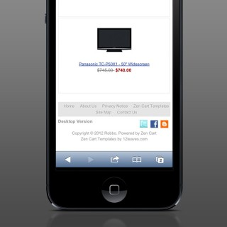 Desktop site version available for mobiles and tablets